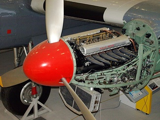 A Rolls-Royce Merlin installed in a preserved Avro York