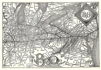 B&O route map of 1891