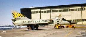 27th Fighter-Interceptor Squadron F-106 59-0031 Griffiss AFB.jpg
