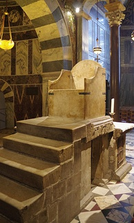 The throne of Charlemagne and the subsequent German Kings in Aachen Cathedral