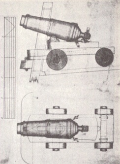 Admiralty carriage mount for an 18-pounder carronade, 1808