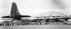 B-36A Peacemaker arriving at Kirtland AFB
