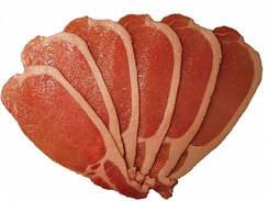 Uncooked back bacon