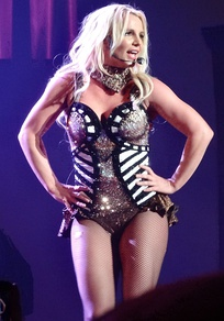 Spears performing during her Las Vegas concert residency, Britney: Piece of Me, in January 2014