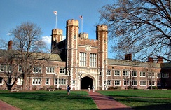 Brookings Hall on the campus of Washington University in St. Louis, where Hull attended college