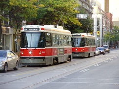 The Toronto streetcar system is the largest streetcar system in the Americas.