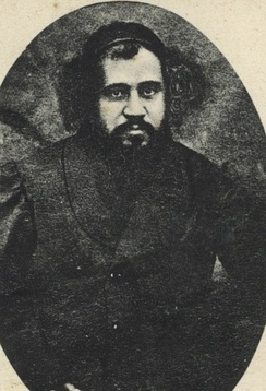 "Chaim Sofer, the leading halakhic authority of the Hungarian ""zealots"" during the Orthodox-Neolog schism."