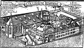 The University of Jena around 1600. Jena was the center of Gnesio-Lutheran activity during the controversies leading up to the Formula of Concord.
