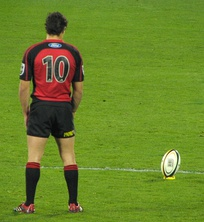 Fly-half Dan Carter wearing n° 10, usually given to players in that position