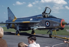Lightning T.4 at Farnborough Airshow, England, in 1964
