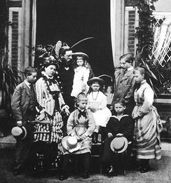The Crown Prince's family, 1875