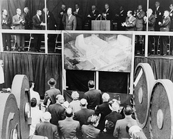President Dwight D. Eisenhower at the launching of Lincoln Center campus, 1959