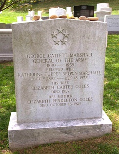 Grave site of George Marshall at Arlington National Cemetery