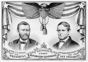 Ulysses S. Grant/Schuyler Colfax 1868 National Union Republican campaign poster