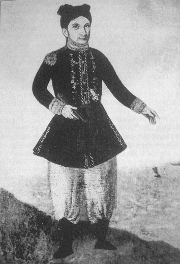 Jean-Baptiste Chaigneau (in mixed Franco-Vietnamese uniform) was an important actor of the first French intervention in Vietnam.