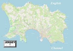 Large, detailed map of Jersey