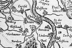 North of Duisburg Area in 1591