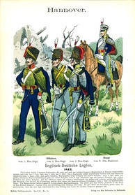 Hussars of the King's German Legion in 1813, all armed with the 1796 sabre