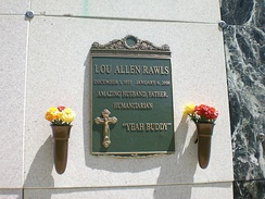 Lou Rawls's tomb at Forest Lawn Memorial Park (Hollywood Hills)