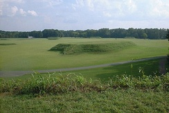 The Moundville Archaeological Site in Hale County. It was occupied by Native Americans of the Mississippian culture from 1000 to 1450 AD.
