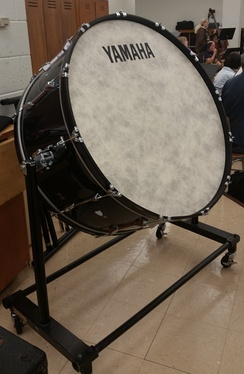 This is a typical mounted bass drum used for concert bands and orchestras