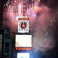 A ToshibaVision screen in use during the ball drop in Times Square from 2008 to 2018