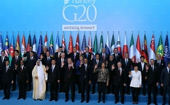 Leaders of the G-20 at the 2015 Antalya summit in Turkey.