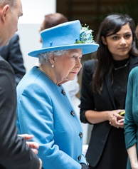 The Queen visiting the Home Office in 2015