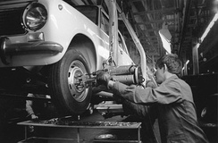 The AvtoVAZ assembly line in 1969