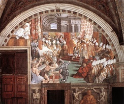 The Coronation of Charlemagne, by assistants of Raphael, c. 1516–1517
