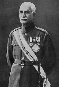 Reza Shah in military uniform