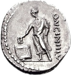 Roman coin depicting election