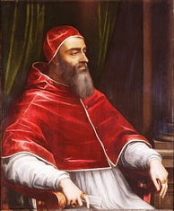 "Giulio di Giuliano de' Medici, Pope Clement VII, by Sebastiano del Piombo, c.1531. Clement called Catherine's betrothal to Henry of Orléans ""the greatest match in the world"".[7]"