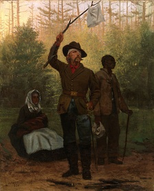 Julian Scott's 1873 painting, Surrender of a Confederate Soldier.