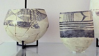 Ubaid IV pottery jars 4700-4200 BC Tello, ancient Girsu, Louvre Museum.[21]