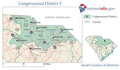 United States House of Representatives, South Carolina District 5 map.png