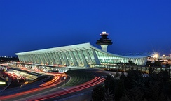 Washington Dulles International Airport, ostensibly the setting for Die Hard 2; the movie was actually filmed at Los Angeles International Airport