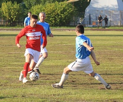Exhibition game of veterans of FC Spartak Moscow against Team of Severodvinsk in Russia