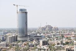 View of downtown Baghdad, March 2017