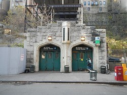 Other entrance to the 181st Street IND station on Overlook Terrace at 184th Street
