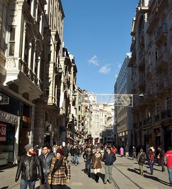 İstiklal Avenue in the Beyoğlu district of Istanbul