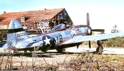 507th Fighter Squadron P-47 at Fritzlar Airfield[note 4]