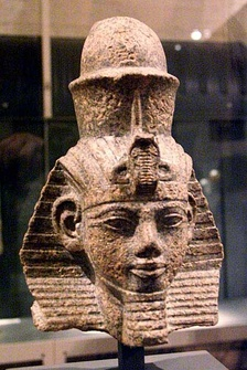 Bust of Amenhotep III, whose marriage to Sitamun – another pharaoh's daughter – is seen as parallel with Solomon and the subject of this article.