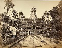 Фотография храма Ангкор-Ват, сделанная в 1866 году Эмилем Гзеллем