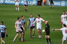 A league game between Dublin and Tyrone