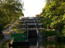 The Five Rise Locks from below