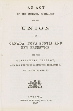 Cover of the Constitution Act, 1867