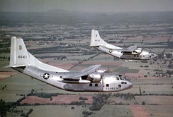 USAF C-123Bs in the 1950s.