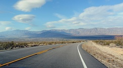 SR 78 in the Anza-Borrego Desert State Park, looking east