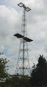 A Chain Home tower in Great Baddow, Essex, United Kingdom